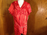 Bright Orange Halo Women Top With Little Belt W Tags Size Plus 3x