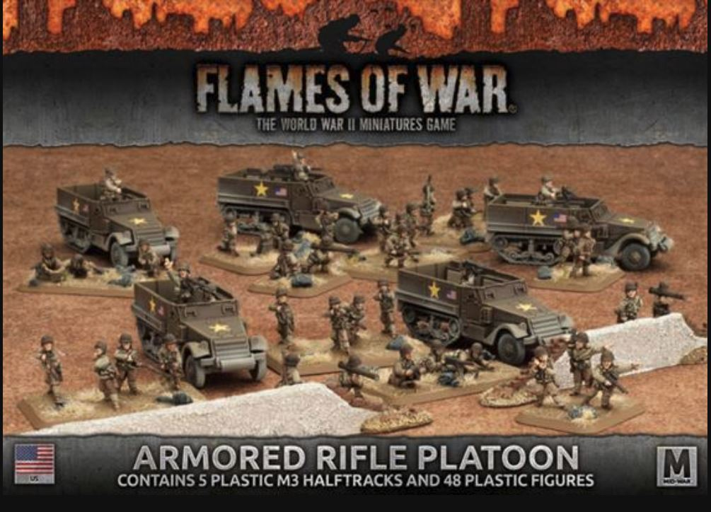 Flames of War World War II Wargame - US Armored Rifle Platoon