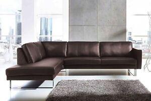 Echt Leder Sofa Couch Sofagarnitur Ecksofa Eckcouch Wohnlandschaft