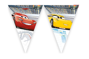 Disney-Cars-Flag-Bunting-Flags-Banner-Children-039-s-Birthday-Kids-Party-Decoration