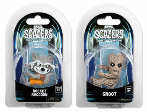 "NECA SCALERS Guardians Of The Galaxy Groot /& Rocket Raccoon 2/"" Set"