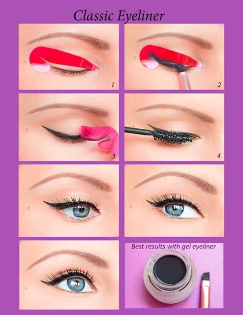 80pcs Quick Eyeliner Stickies Stencils Winged Eyeliner Tool Sticker ORIGINAL US3