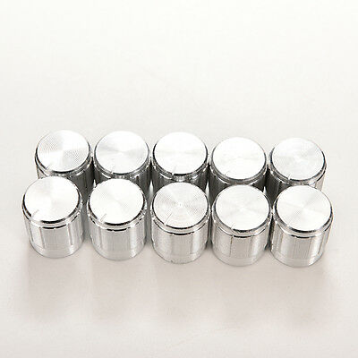 10X Aluminum Knobs Rotary Switch Potentiometer Volume Control Pointer Hole 6mm