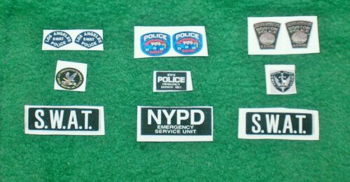 1/6 Boston PD, NYPD & LAPD police Swat team Emergency Response Patches sets x 1