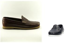 a571053a13e Image is loading Shoes-Lumberjack-SM07802-Man-Navigator-Mocassino-Leather- Brown-