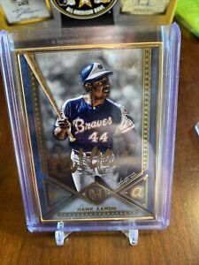 HANK AARON 2019 TOPPS MUSEUM COLLECTION FRAMED GOLD INK AUTOGRAPH AUTO 5/10 ATL