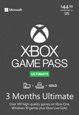 Xbox Game Pass Ultimate 3 Months Gold Membership