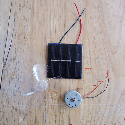 Solar Powered Motor and Fan Educational Kit