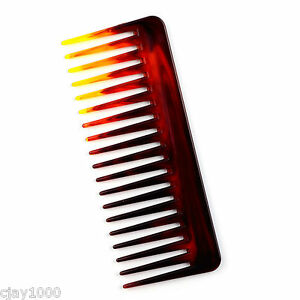 NEW-WIDE-TOOTH-HAIR-STYLING-SALON-BARBER-TORTOISE-COLOUR-COMB