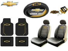 10 Pc Chevrolet Elite Seat Covers & Steering Cover & (Front &Rear  Floor Mats)