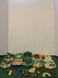 Pokemon-Nintendo-1997-TOMY-Mini-Playset-Polly-Pocket-lot-of-5-vintage-AS-IS