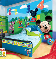Photo Wallpaper Disney Mickey Mouse Clubhouse Kids Room Wall Mural (4-029ve)