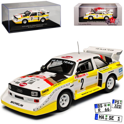 Audi Sport Quattro s1 Rally de Monte Carlo 1986 Röhrl geistdörfer 1//43 CMR modelo