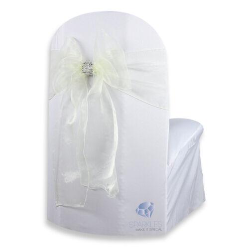 "Organza Chair Cover Bow Sash 108/""x8/"" Wedding Party Banquet Reception"