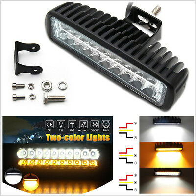 "2 Pcs 6/"" Super Bright 18LED 54W Dual Color Car Work Lights 5400LM Fog Lamps DRL"