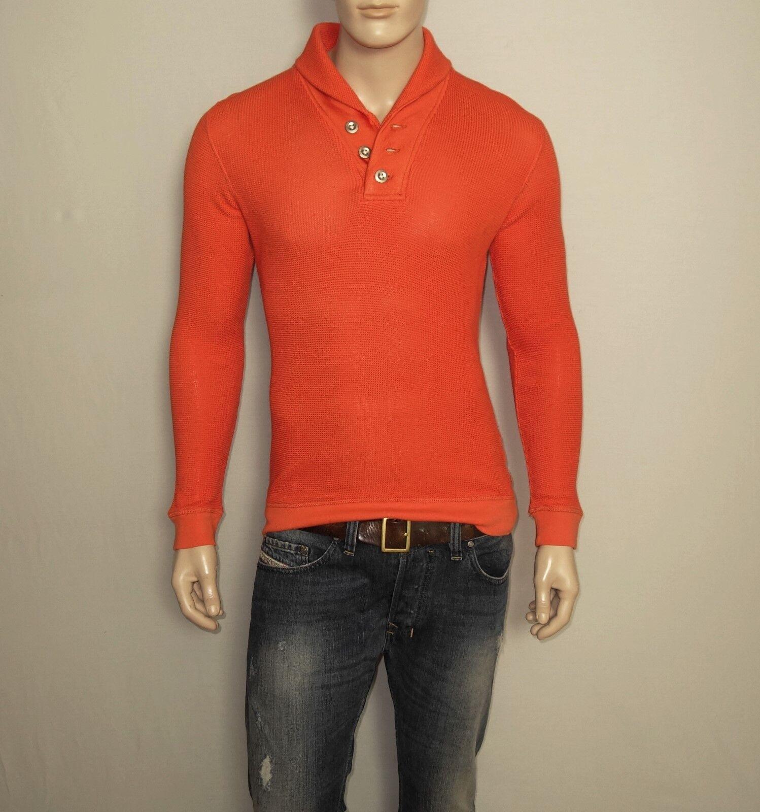 NEW DIESEL Sweat-Shirt in orange Size Small REGULAR Cotton Viscose