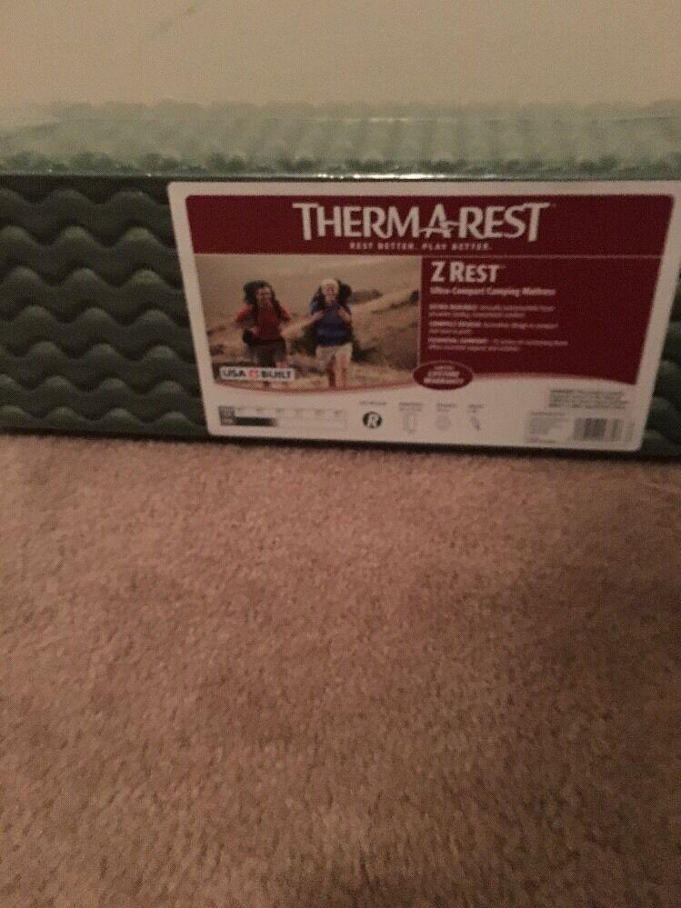 THERMAREST Z REST Outdoor Sleeping Gear Camping Mattress Sz Regular Green