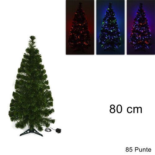 Albero Di Natale 80 Cm.272332 Albero Di Natale Nero In Fibra Ottica Luminose Multicolor 120 Cm Ebay