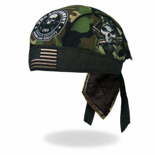 Biker Chopper America testa Panno Bandana Headwrap CAMO SKULL Security bretella Tarn