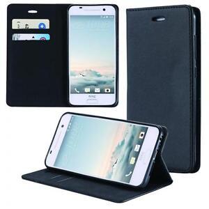 HTC-One-M9-Coque-de-Protection-Carte-Portefeuille-Housse-Etui-Cover-Case-Noir