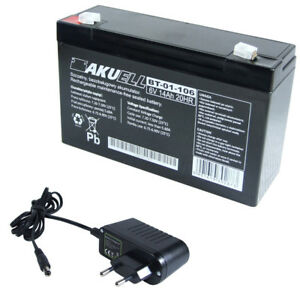 Akkus Ladegerät Stecker Batteriebetriebene Fahrzeuge EntrüCkung Agm Akku 6v 14 Ah Agm Batterie Ersetzt 10 Ah 12 Ah