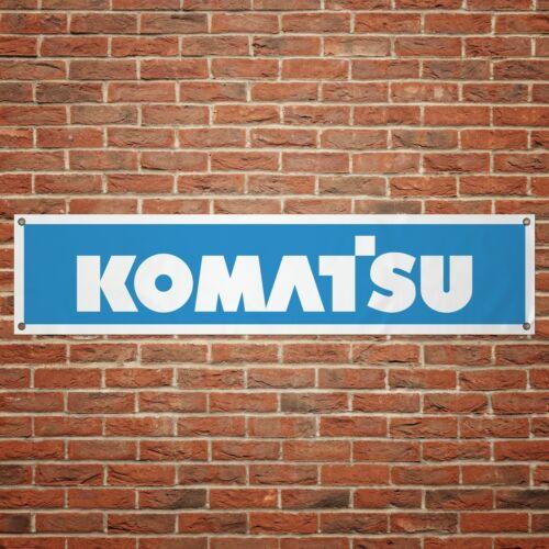 Komatsu Banner Garage Workshop PVC Sign Trackside Display Bulldozer