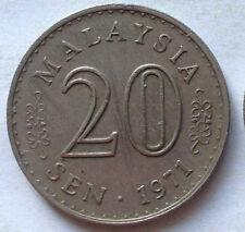 Parliament Series 20 sen coin 1971 (A)
