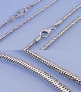 Echt-925-Silber-Schlangenkette-1-5-2-mm-42-bis-80-cm-waehlbar-rhodiniert-Kette