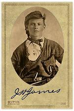 JESSE JAMES Vintage Confederate Raider & Notorious Outlaw CDV Unique RP