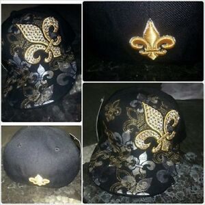 ad7916a4015 New Orleans Fitted Baseball Cap Saints fleur-de-lis fleur-de-lys ...