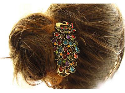 Retro Bridal Crystal Rhinestone Peacock Hairpin Hair Clip Hair Accessories