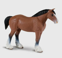 Safari 157805 Clydesdale Stallion Miniature- Pack of 6 Toys