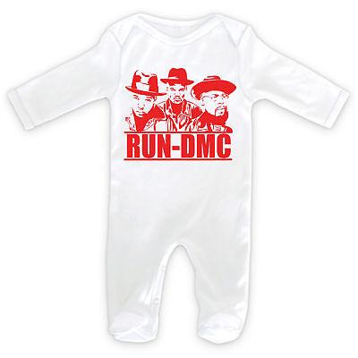RUN DMC LOGO Baby SleepSuit Romper RAP ICON HIP HOP OLD SKOOL