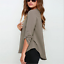 thumbnail 10 - Women's Summer Loose V Neck Chiffon Long Sleeve Blouse Casual Collar Shirt Tops