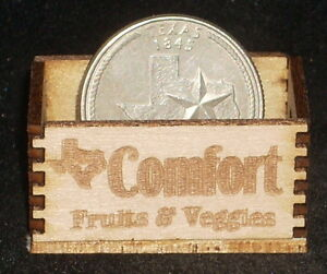Market Texas Grocery Dollhouse Miniature Cowboy Produce Crate 1:12 Scale