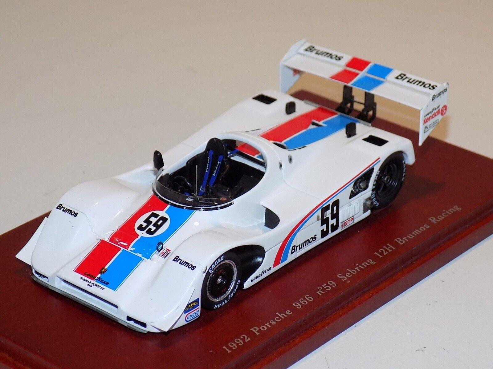 1 43 True Scale Models TSM Porsche 966 Brumos Racing 59 1992 Sebring TSM114304