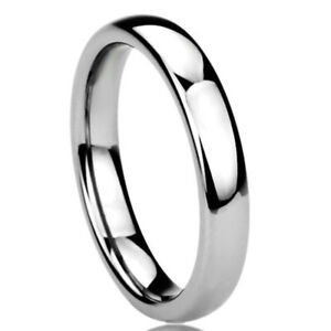 Size 3.5 to 10.5 Clara Pucci 14K White Gold mens and womens plain wedding bands 3mm comfort-fit light Double Accent
