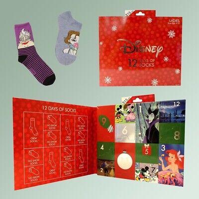 12 Days Of Christmas Socks.Disney Women S 12 Days Of Christmas Socks Size 4 10 Advent Calendar Sold Out New Ebay