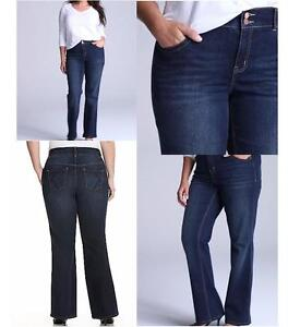 4afebc17a71 Image is loading Lane-Bryant-Jeans-Tighter-Tummy-Tuck-Technology-bootcut-