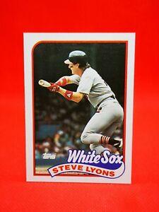 Topps 1989 carte card Baseball MLB NM+/M Chicago White Sox #334 Steve Lyons