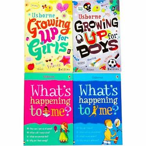 Usborne-4-Book-Collection-Set-Whats-happening-to-me-Boys-and-Girls-Growing-Up