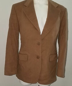 Pietrafesa-Women-039-s-Brown-Blazer-Jacket-Size-4-Wool-Cashmere-Blend-Lined-Career