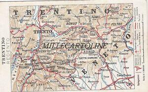 Cartina Trentino.Trento Cartolina Con Cartina Fisica Del Territorio Trentino Redento Ebay