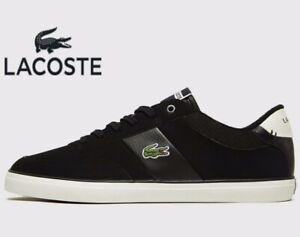Men All sizes: UK 8-12 2018 Lacoste Alligator 417 ® Black Brown Leather