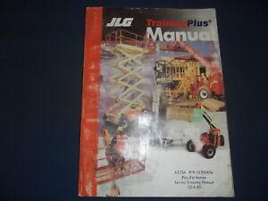 Details about JLG ST256 PRO FIT SERIES SCISSOR LIFT SERVICE TRAIING MANUAL  BOOK PART 31201036