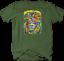 Multicolor-Neon-Color-Majestic-Lion-King-of-Jungle-Big-Cat-Safari-T-shirt thumbnail 5