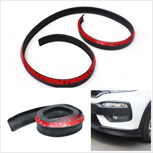 2.5M Car SUV Rubber Lip Skirt Protector Front Bumper Spoiler Side Splitter Black
