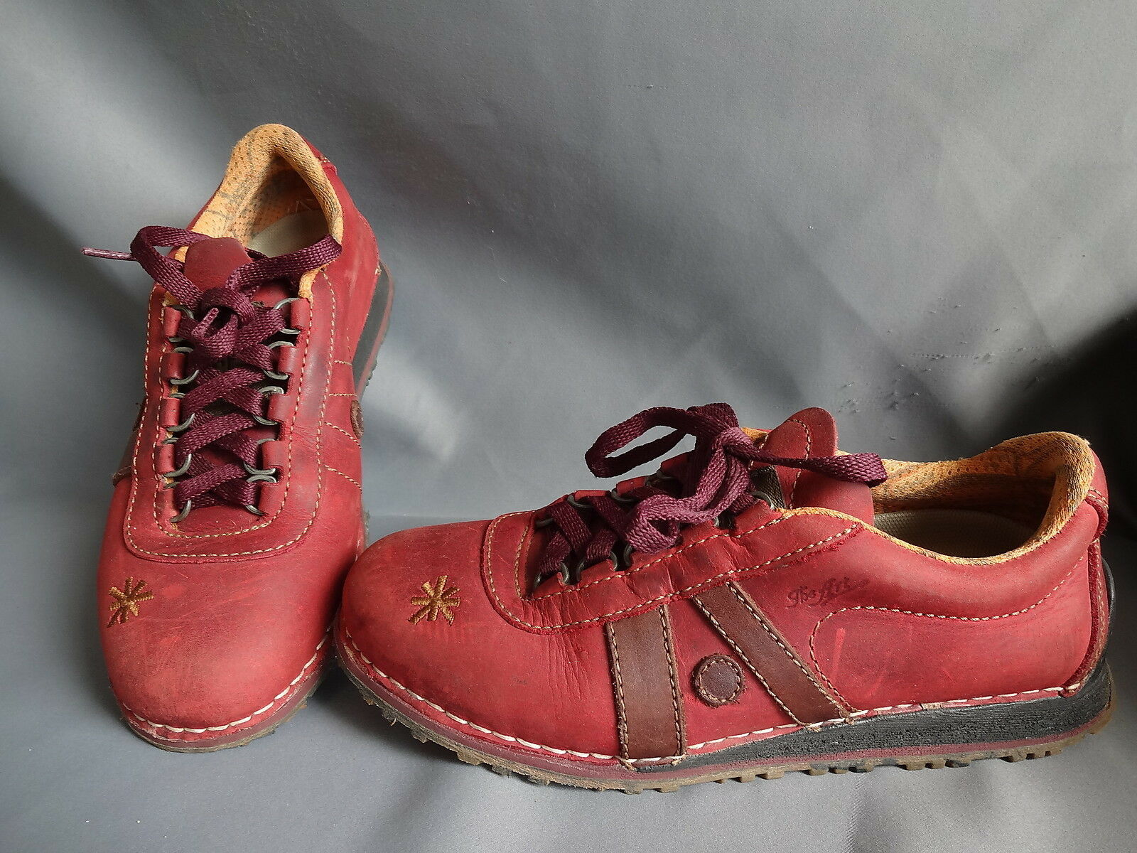 ART COMPANY CHAUSSURE BASKET DERBY FEMME FILLE FILLE FILLE CUIR ROUGE pt 36 ROT SNEAKERS 7daed6