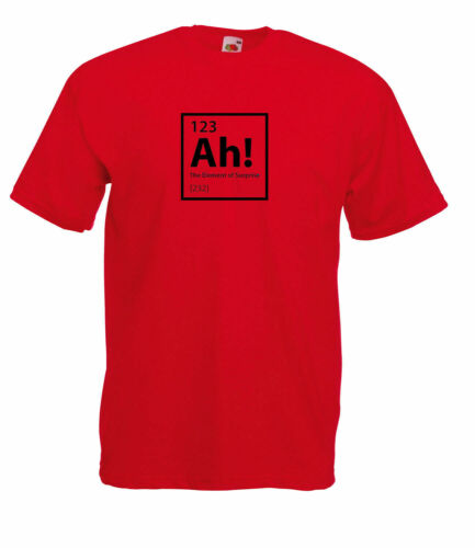 Unisex Ah Periodic Table Graphic Quality T-Shirt Men/'s