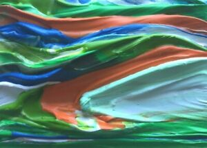 "TROPICAL SEASCAPE Acrylic Sea ACEO Ocean Painting 2.5x 3.5"" Julia Garcia Art NEW"